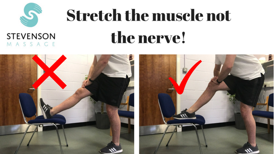 Stretch the muscle not the nerve!