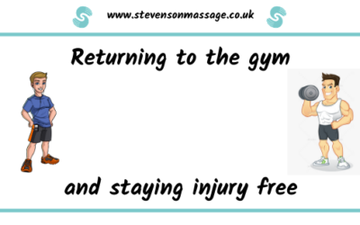 Returning to the gym and staying injury free